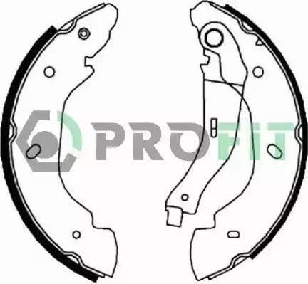 Profit 5001-5960 - Jeu de freins, freins à tambour www.widencarpieces.com