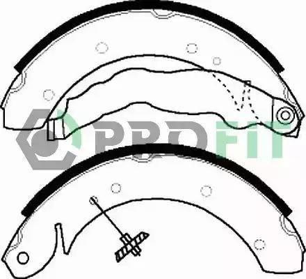 Profit 5001-0447 - Jeu de freins, freins à tambour www.widencarpieces.com