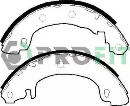 Profit 5001-0544 - Jeu de freins, freins à tambour www.widencarpieces.com