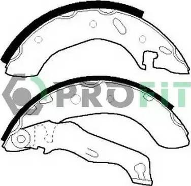 Profit 5001-0543 - Jeu de freins, freins à tambour www.widencarpieces.com
