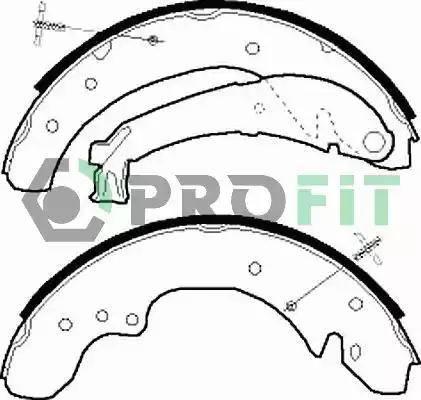 Profit 5001-0534 - Jeu de freins, freins à tambour www.widencarpieces.com