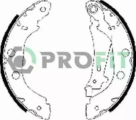 Profit 5001-0577 - Kit de plaquettes de frein, frein à disque www.widencarpieces.com