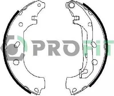 Profit 5001-0648 - Jeu de freins, freins à tambour www.widencarpieces.com