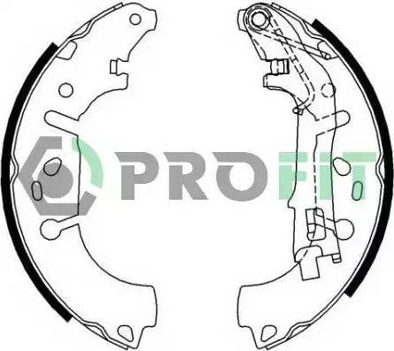 Profit 5001-0682 - Jeu de freins, freins à tambour www.widencarpieces.com