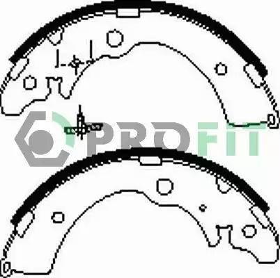 Profit 5001-0318 - Jeu de freins, freins à tambour www.widencarpieces.com