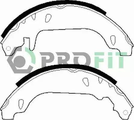 Profit 5001-0243 - Jeu de freins, freins à tambour www.widencarpieces.com