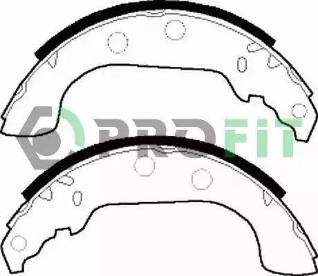 Profit 5001-0268 - Jeu de freins, freins à tambour www.widencarpieces.com