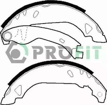 Profit 5001-0263 - Jeu de freins, freins à tambour www.widencarpieces.com