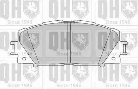 Quinton Hazell BP1586 - Kit de plaquettes de frein, frein à disque www.widencarpieces.com