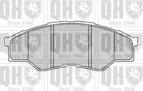 Quinton Hazell BP1604 - Kit de plaquettes de frein, frein à disque www.widencarpieces.com