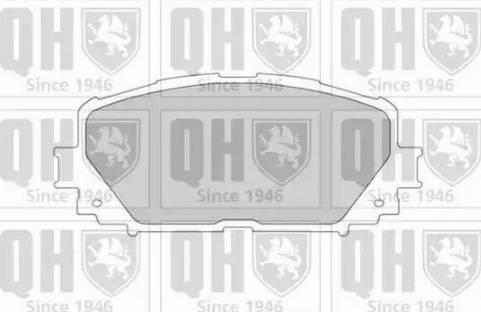 Quinton Hazell BP1617 - Kit de plaquettes de frein, frein à disque www.widencarpieces.com