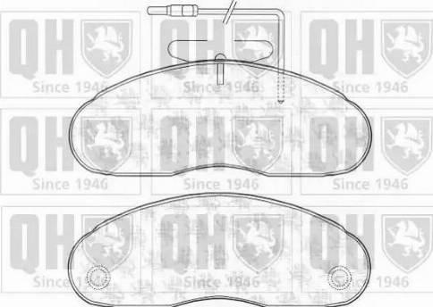 Quinton Hazell BP1136 - Kit de plaquettes de frein, frein à disque www.widencarpieces.com