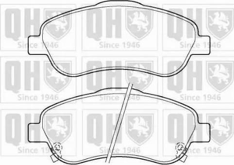 Quinton Hazell BP1395 - Kit de plaquettes de frein, frein à disque www.widencarpieces.com