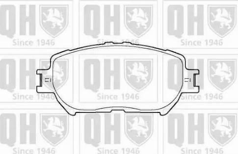 Quinton Hazell BP1373 - Kit de plaquettes de frein, frein à disque www.widencarpieces.com