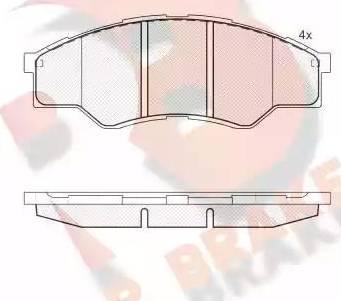 R Brake RB1824 - Kit de plaquettes de frein, frein à disque www.widencarpieces.com