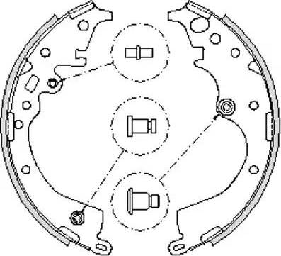 Remsa 4239.00 - Jeu de freins, freins à tambour www.widencarpieces.com