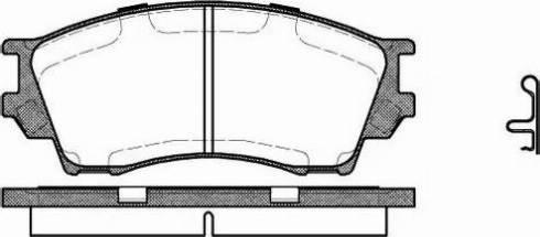 Remsa 0491.00 - Kit de plaquettes de frein, frein à disque www.widencarpieces.com