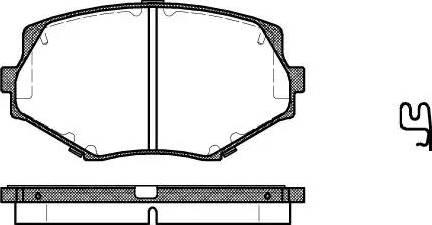 Remsa 0478.02 - Kit de plaquettes de frein, frein à disque www.widencarpieces.com