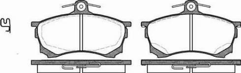 Remsa 0582.00 - Kit de plaquettes de frein, frein à disque www.widencarpieces.com