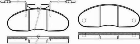 Remsa 0048.02 - Kit de plaquettes de frein, frein à disque www.widencarpieces.com