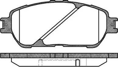 Remsa 0898.00 - Kit de plaquettes de frein, frein à disque www.widencarpieces.com