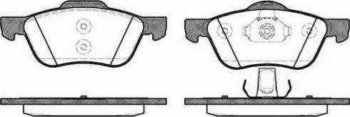 Remsa 0844.00 - Kit de plaquettes de frein, frein à disque www.widencarpieces.com