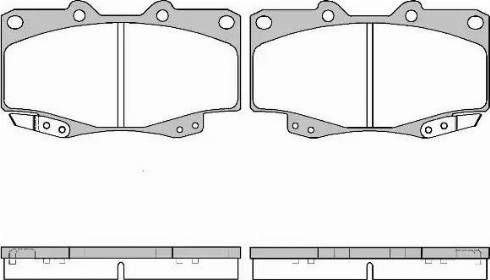 Remsa 0315.22 - Kit de plaquettes de frein, frein à disque www.widencarpieces.com