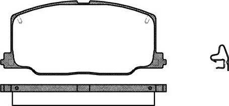 Remsa 0268.04 - Kit de plaquettes de frein, frein à disque www.widencarpieces.com