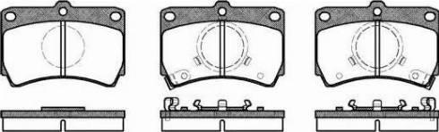 Remsa 0212.02 - Kit de plaquettes de frein, frein à disque www.widencarpieces.com