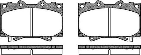 Remsa 0707.04 - Kit de plaquettes de frein, frein à disque www.widencarpieces.com