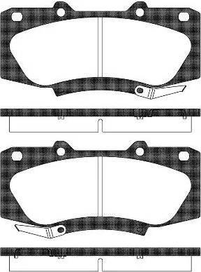 Remsa 1468.04 - Kit de plaquettes de frein, frein à disque www.widencarpieces.com