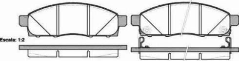 Ashika 50-01-128 - Kit de plaquettes de frein, frein à disque www.widencarpieces.com
