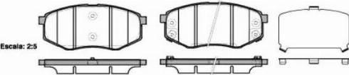 Remsa 1426.02 - Kit de plaquettes de frein, frein à disque www.widencarpieces.com