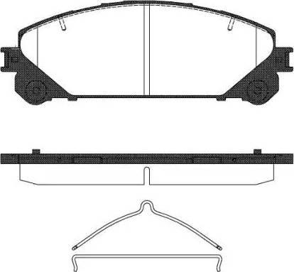 Remsa 1312.00 - Kit de plaquettes de frein, frein à disque www.widencarpieces.com