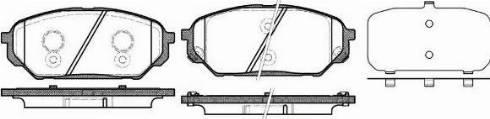 Remsa 1322.12 - Kit de plaquettes de frein, frein à disque www.widencarpieces.com