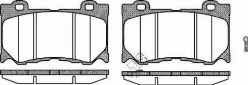 Remsa 1372.01 - Kit de plaquettes de frein, frein à disque www.widencarpieces.com