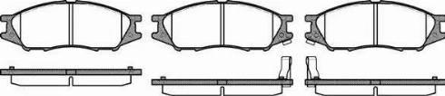 Roadhouse 21123.02 - Kit de plaquettes de frein, frein à disque www.widencarpieces.com