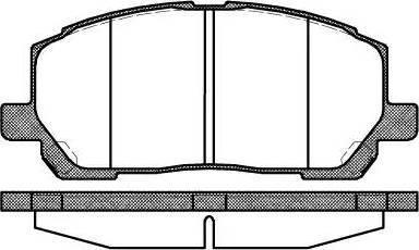 Roadhouse 2855.00 - Kit de plaquettes de frein, frein à disque www.widencarpieces.com