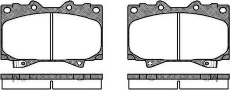 Roadhouse 2707.04 - Kit de plaquettes de frein, frein à disque www.widencarpieces.com