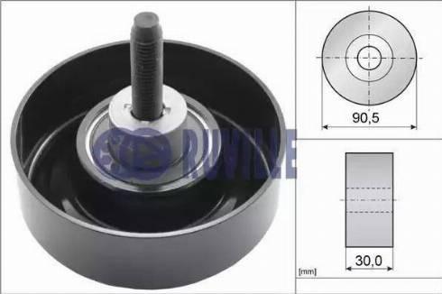 Ruville 55259 - Poulie renvoi/transmission, courroie trapézoïdale à nervures www.widencarpieces.com
