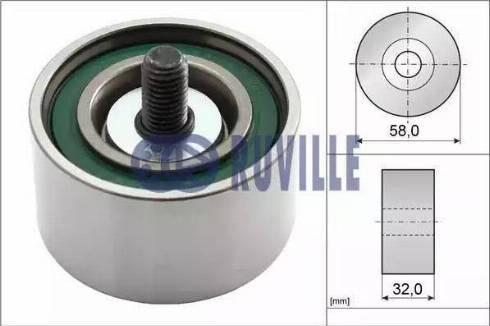 Ruville 58409 - Poulie renvoi/transmission, courroie de distribution www.widencarpieces.com