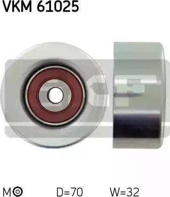 SKF VKM 61025 - Poulie renvoi/transmission, courroie trapézoïdale à nervures www.widencarpieces.com