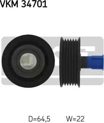 SKF VKM 34701 - Poulie renvoi/transmission, courroie trapézoïdale à nervures www.widencarpieces.com