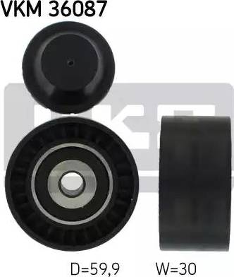 SKF VKM 36087 - Poulie renvoi/transmission, courroie trapézoïdale à nervures www.widencarpieces.com