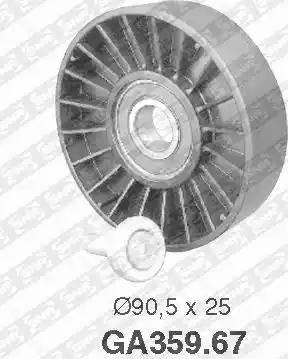 SNR GA359.67 - Poulie renvoi/transmission, courroie trapézoïdale à nervures www.widencarpieces.com