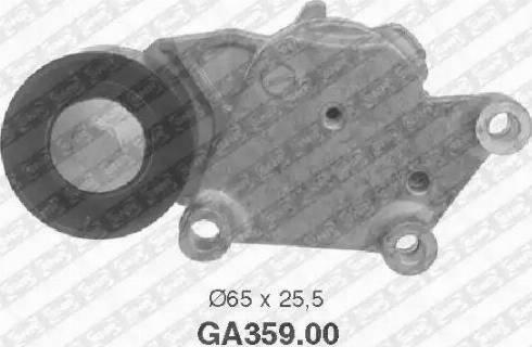 SNR GA359.00 - Poulie-tendeur, courroie trapézoïdale à nervures www.widencarpieces.com