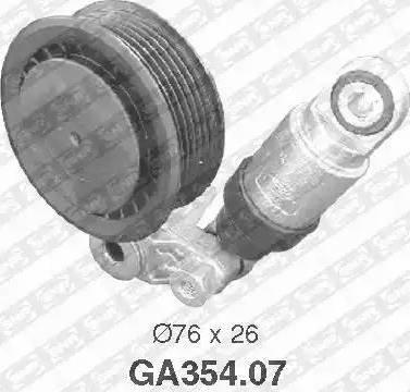 SNR GA354.07 - Poulie-tendeur, courroie trapézoïdale à nervures www.widencarpieces.com