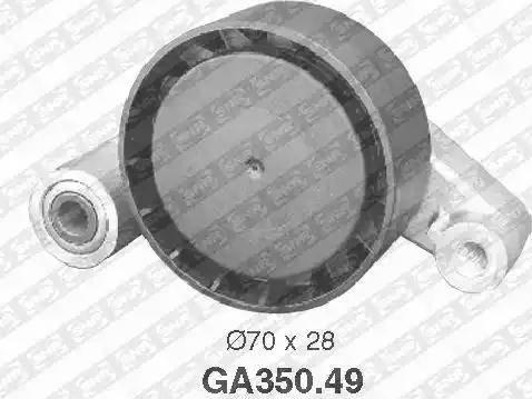 SNR GA350.49 - Poulie-tendeur, courroie trapézoïdale à nervures www.widencarpieces.com