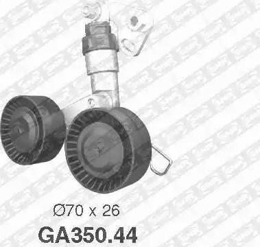 SNR GA350.44 - Poulie-tendeur, courroie trapézoïdale à nervures www.widencarpieces.com
