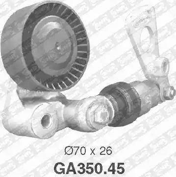 SNR GA350.45 - Poulie-tendeur, courroie trapézoïdale à nervures www.widencarpieces.com